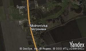 Map of  village Motronivka