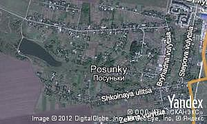 Map of  village Posunky