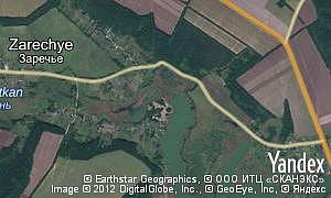 Satellite map of  village Zarechye