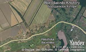 Satellite map of  village Borodaivski Khutory
