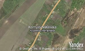 Yandex map of  village Kornylo-Natalivka