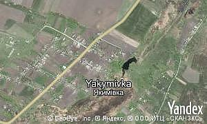 Yandex map of  village Yakymivka