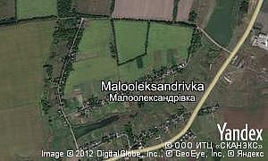 Map of  village Malooleksandrivka