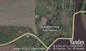 Map of  village Adalymivka