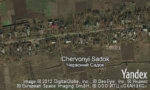 Satellite map of  village Chervonyi Sadok