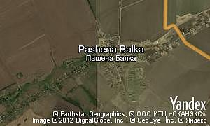 Map of  village Pashena Balka