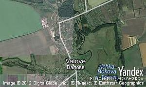 Map of  village Valove
