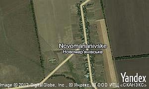 Map of  village Novomarianivske
