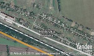 Map of  village Heikivka
