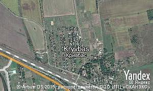 Map of  village Kryvbas