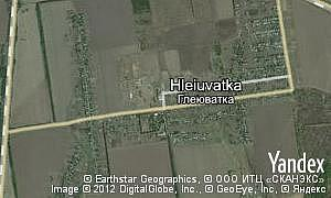 Map of  village Hleiuvatka