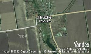 Map of  village Hruzke