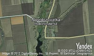 Map of  village Novolozuvatka