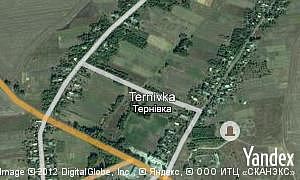 Map of  village Ternivka