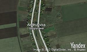 Map of  village Andrusivka