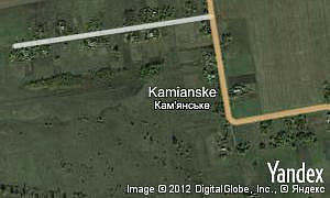 Map of  village Kamianske