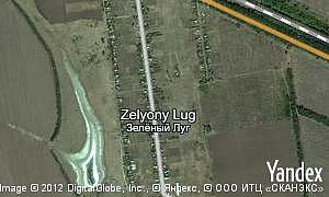 Map of  village Zelyony Lug