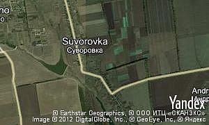 Map of  village Suvorovka