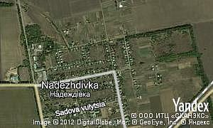 Map of  village Nadezhdivka