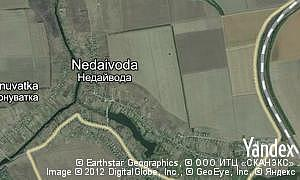 Map of  village Nedaivoda