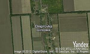 Map of  village Dniprovka