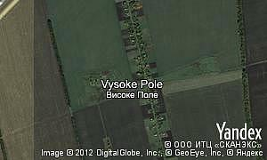 Map of  village Vysoke Pole