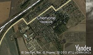 Map of  village Chervone
