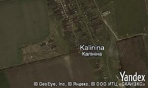 Map of  village Kalinina