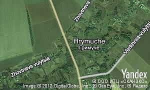Map of  village Hrymuche