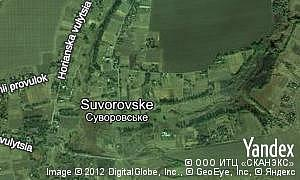 Map of  village Suvorovske