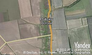 Map of  village Potoky