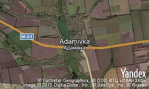 Map of  village Adamivka