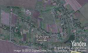 Map of  village Bykove