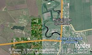 Map of  village Huliaipole
