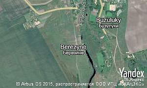 Map of  village Berezyne