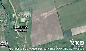 Map of  village Buzuluky