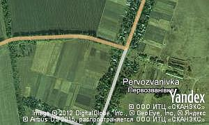 Map of  village Pervozvanivka