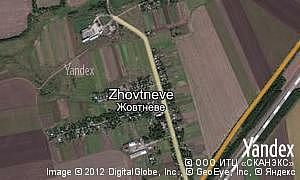 Map of  village Zhovtneve