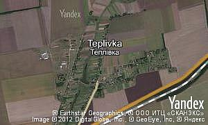 Map of  village Teplivka