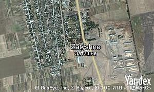 Map of  village Zatyshne