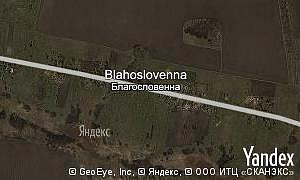 Map of  village Blahoslovenna