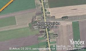 Map of  village Novokalynivka