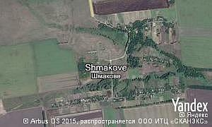 Yandex map of  village Shmakove