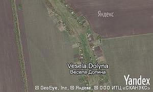 Map of  village Vesela Dolyna