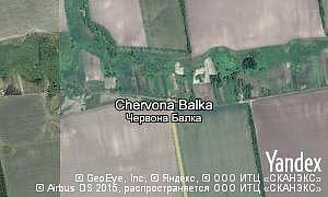 Map of  village Chervona Balka