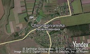 Map of  village Chervonoivanivka