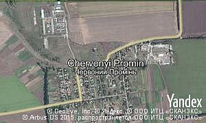 Map of  village Chervonyi Promin