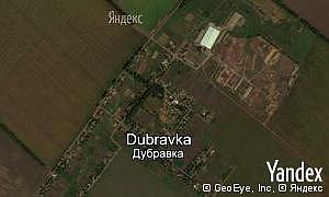 Map of  village Dubravka