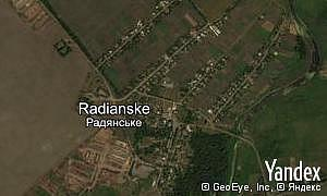 Map of  village Radianske