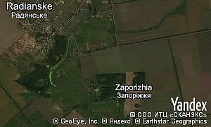 Map of  village Zaporizhia